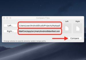 FileMergeファイル比較 ファイルパス指定