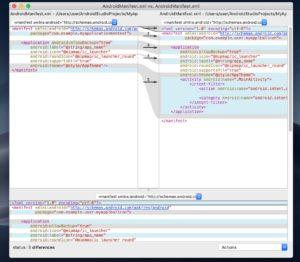 FileMergeファイル比較 画面表示