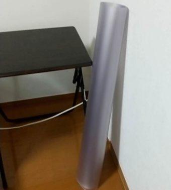 透明チェアマットとニトリの折りたたみテーブルを使ってみる