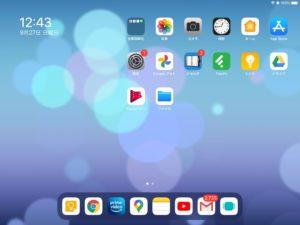 iPadOS 14.0.1 再起動後