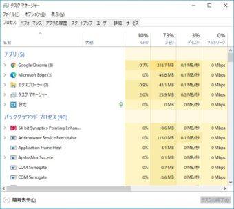 Windows10のタスクマネージャーを起動する