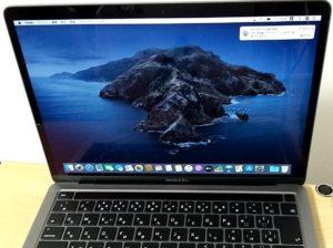 2020年モデル13インチMacBook Pro セットアップ完了