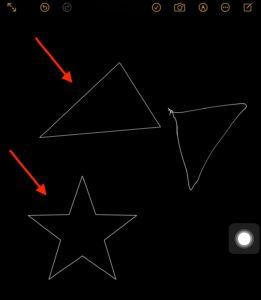 アップルペンシル正確な線と曲線 星