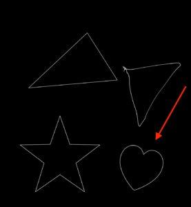 アップルペンシル正確な線と曲線 ハート