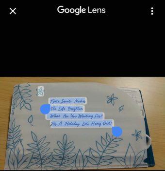 Googleフォトにアップロードした画像からテキストコピーを使ってみる