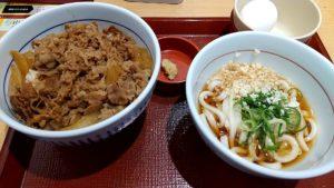 なか卯ワンコインランチ+無料券 和風牛丼
