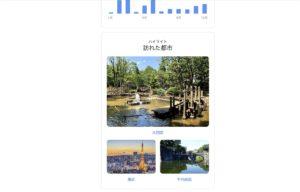 Googleロケーション履歴年間メール 都市