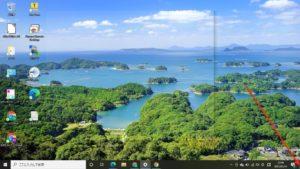 windows10タスクバー デスクトップ表示