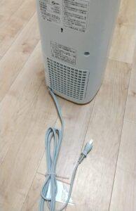 プラズマクラスター セラミックファンヒーターHX-JS1-W 背面