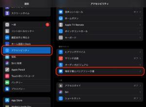 iPad字幕新規スタイル 表示