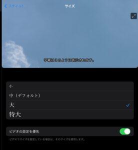 iPad字幕新規スタイル サイズ