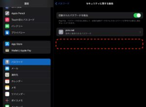 iPad設定パスワード 安全性OK