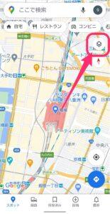 Googleマップ表示切り替え 四角アイコン