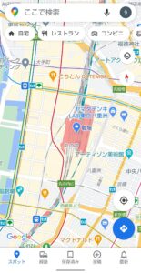 Googleマップ表示切り替え 路線図
