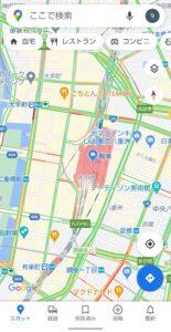 Googleマップ表示切り替え 交通状況