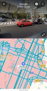 Googleマップ表示切り替え ストリートビュー表示