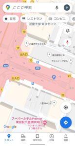 Googleマップ表示切り替え 3D