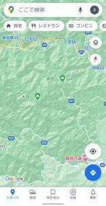 Googleマップ表示切り替え 山