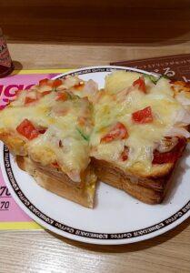 コメダ珈琲 タップリ玉子のピザトースト