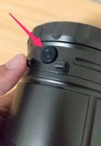キャンドゥの2WAYランタンライト ボタン側面