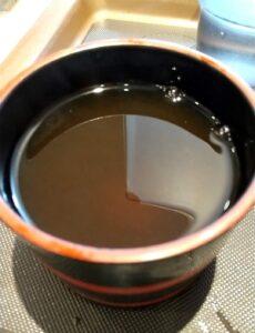 富士そば 合盛り そば湯