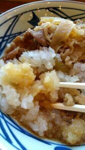 丸亀製麺 鬼おろし肉ぶっかけ 量