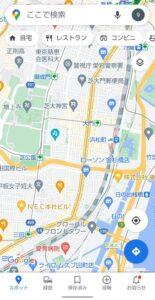 Googleマップ交通状況 開く