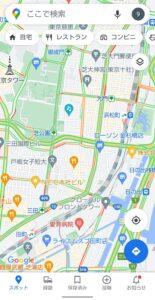 Googleマップ交通状況 有効後