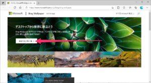 Microsoft Bing Wallpaper サイト
