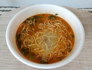 セブンイレブン 鳴龍担々麺 完成